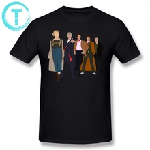 Doctor Who T Shirt All Five Modern Doctors New Costume DW Inspired T-Shirt 4xl Short Sleeves Tee Cotton Tshirt