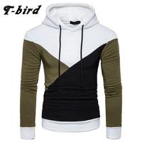 T Bird 2017 Hoodie Men Autumn Winter Stitching Casual Men S Hoodies Hip Hop Sweatshirt Male
