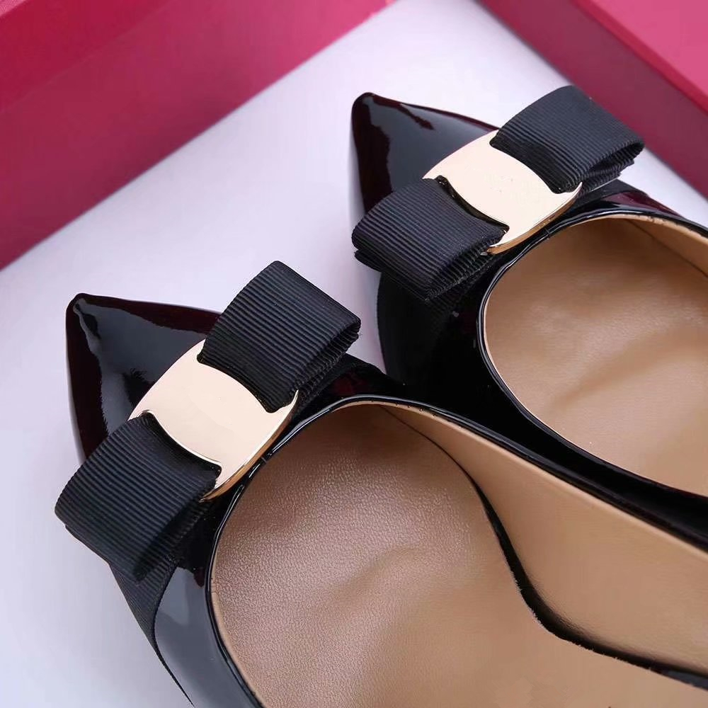 Mariage Verni Hauts À Show Sexy Mujer Bowtie forme Soirée Plate Cuir Feminino Rouge as Pompes Femmes Sapato Chaussures De Zapatos Dames As Talons Show wnqXT