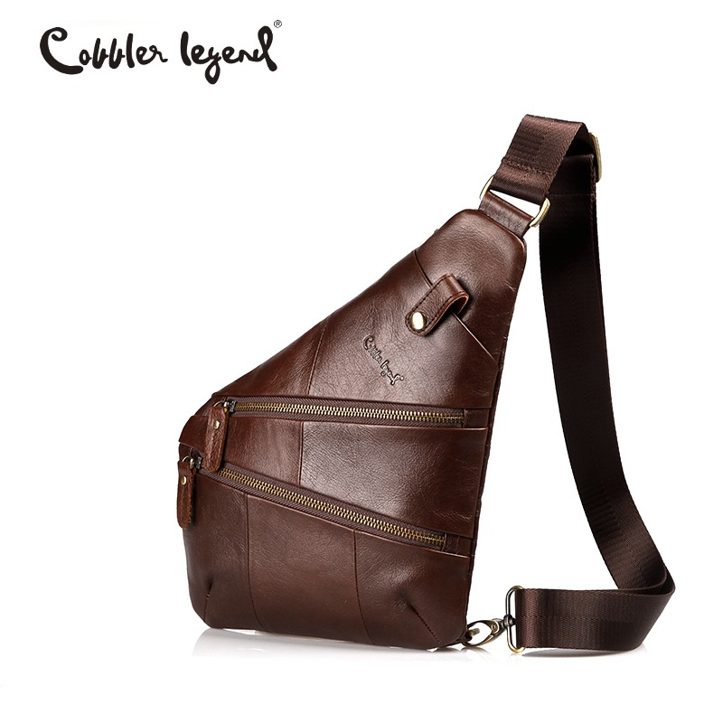 Cobbler Legend Vintage Sling Genuine Leather Messenger Bag For Men Shoulder Bags for Men Crossbody bags Travel Male цена