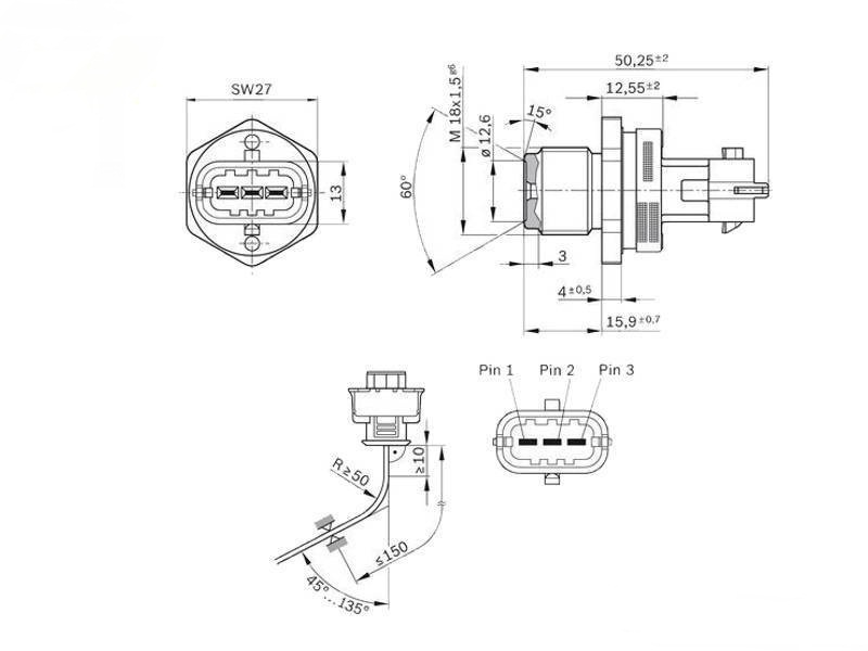 sensor, common rail pressure for bosch opel vauxhall antara astra meriva  signum vectra volvo 1 9cdti 2 0cdti 2 4d 0281002706 on aliexpress com |  alibaba