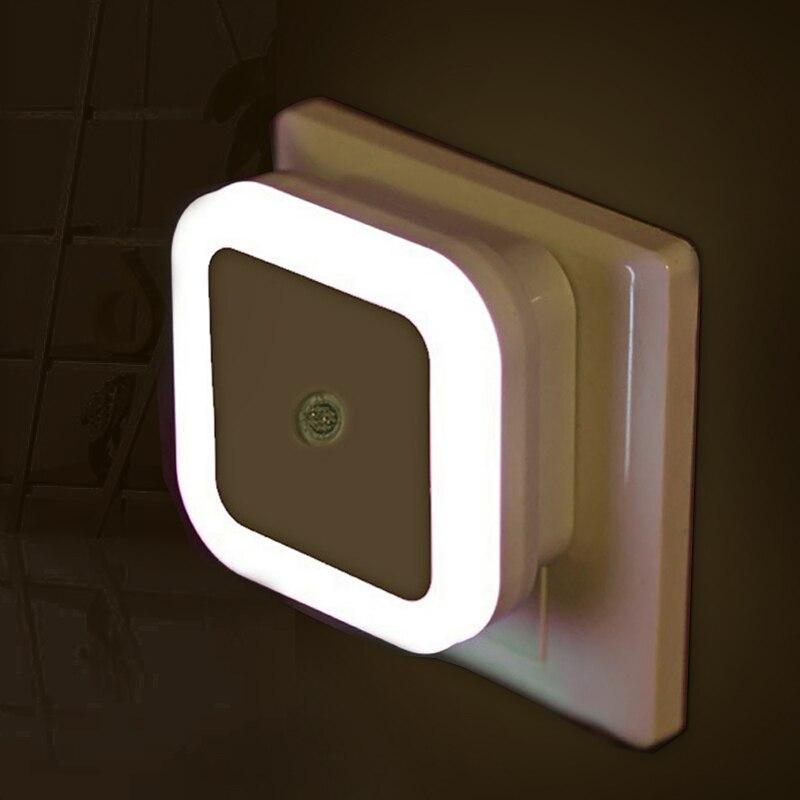 Led night light mini sensor de luz controle 110 v 220 v ue eua plug nightlight lâmpada para crianças sala estar quarto iluminação