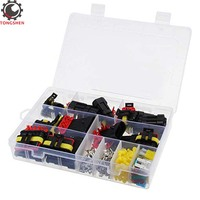 1 2 3 4 5 6 Pin Car Motorcycle Waterproof Electrical Wire Connector Terminal Assortment Box Kit with Blade Fuses