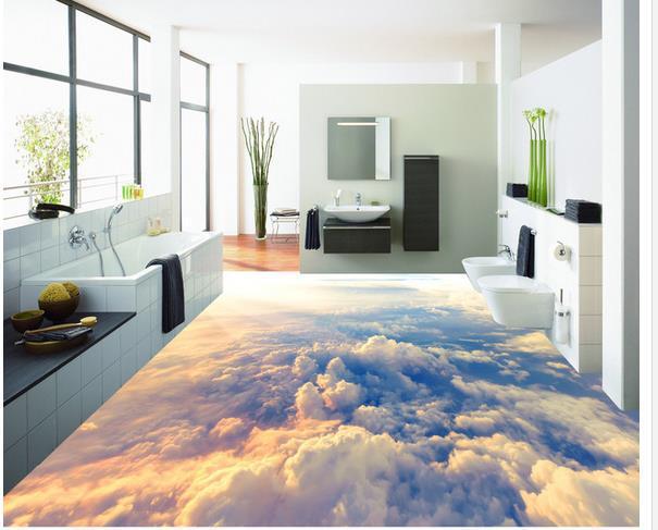 Custom Photo Floor Wallpaper 3d Stereoscopic 3d Clouds