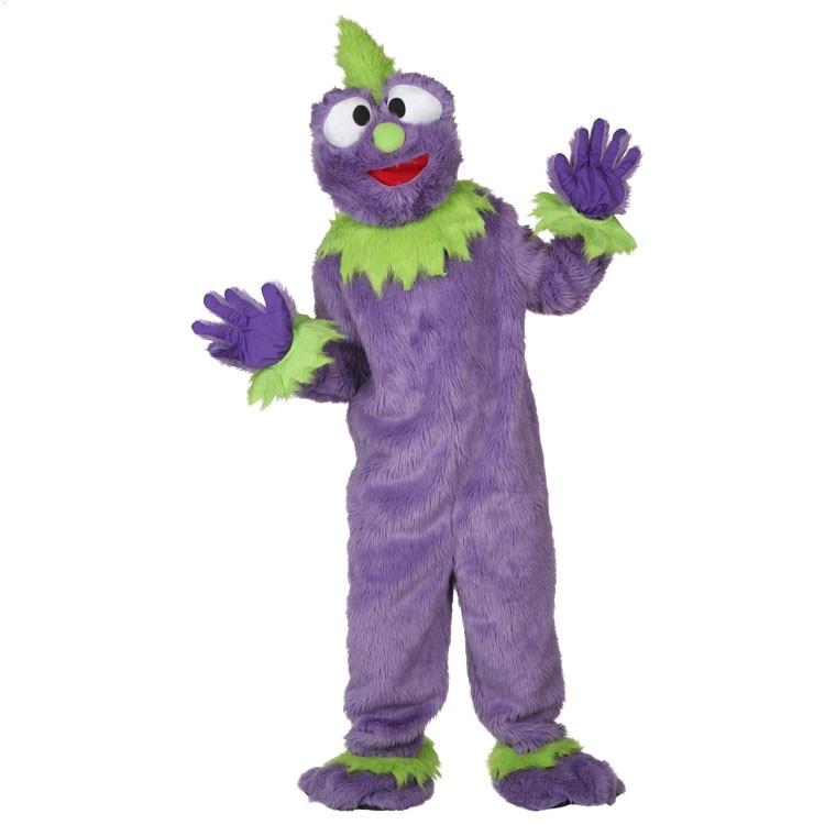 Фиолетовый плюшевые Монстр Костюмы взрослых фестиваль кукла маскарадные костюмы Поставки Рождество Хэллоуин маскарадные костюмы для мужч
