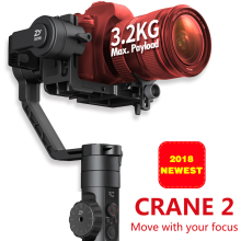 Zhiyun Crane 2 3-Axis Handheld Gimbal Camera Gyro Stablizer for Canon Nikon Sony Panasonic LUMIX GH3 GH4 Series DSLR rtf iflight g15 3 axis cnc dslr handheld brushless gimbal w 32 bit simple bgc for 5d gh3 gh4 a7s gyro steadycam stabilizer