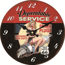 Vintage Hot Girl Design Car Clock Home Decor Office Cafe Kitchen Wall Watches Silent Wall Clocks Art Vintage Large Wall Clock стоимость