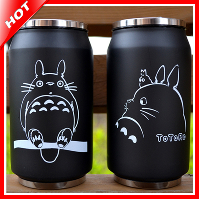 Totoro Bottle Stainless Steel Totoro Thermo Cup Thermal Mug Termo Cup Coffee Kids Thermos Bottle Garrafa