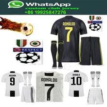 dbc7483b747 best quality kit home away Juventusing RONALDO DYBALA 2019 HIGUAIN soccer jersey  football 18 19 shirt size S-2XL Free shipping