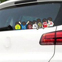 Volkrays Car Stickers Football Club Back View Waterproof Vinyl Decal Accessories for Volvo Xc90 S60 S80 S40 V50 Xc70 V40(China)