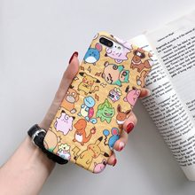 Funda para iphone 8 funda de silicona divertida Pokemons pikachue Anime para coque iphone 7 7 plus 6 6S 8 X XR XS MAX caso(China)