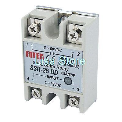 Single Phase SSR Solid State Relay Input DC 3-32V DC 5-60V Output dc ac single phase ssr solid state relay 120a 3 32v dc 24 480v ac