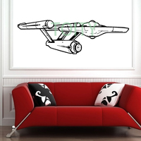 STAR TREK STARSHIP ENTERPRISE Wall Vinyl Decal Movie Poster Sticker Home Interior Decor Removable Mural M