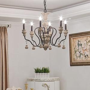 Image 3 - vintage resin chandelier for living room bedroom home decor chandeliers lighting led avize lustre para sala candelabros lustres