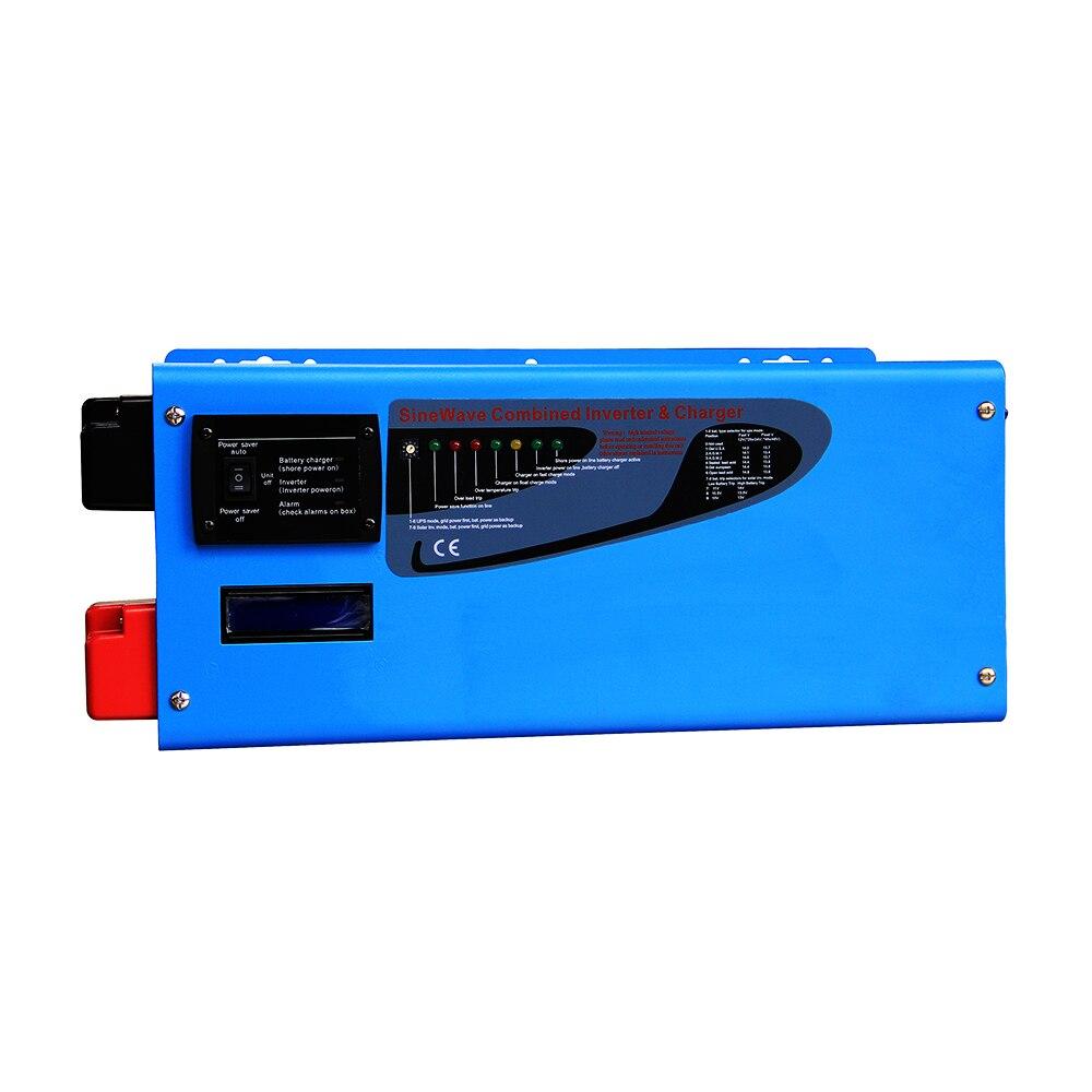 цена на 6000w Toroidal Transformer Off Grid Solar Inverter 24v 220vac Power Inverter Pure Sine Wave with LED Built in Battery Charger