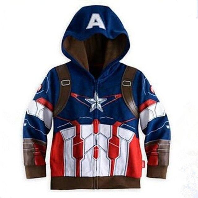 The Avengers Endgame Marvel Superhero Captain America Iron Man Thor Hulk Sweatshirt for Kids 3