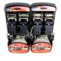 25mm Car Roof Puller Strap Ratchet Tie Down Bundle Strain Straps Euphroe Fasten Device Bind Belt 1 set
