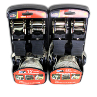 25mm Car Roof Puller Strap Ratchet Tie Down Bundle Strain Straps Euphroe Fasten Device Bind Belt