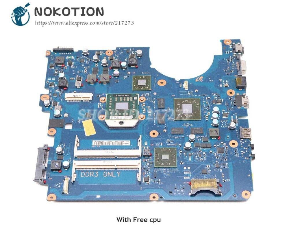 NOKOTION For Samsung NP-R525 R525 Laptop Motherboard DDR3 HD6600M 1GB Free Cpu BA41-01572A BA92-07786A BA92-07786B