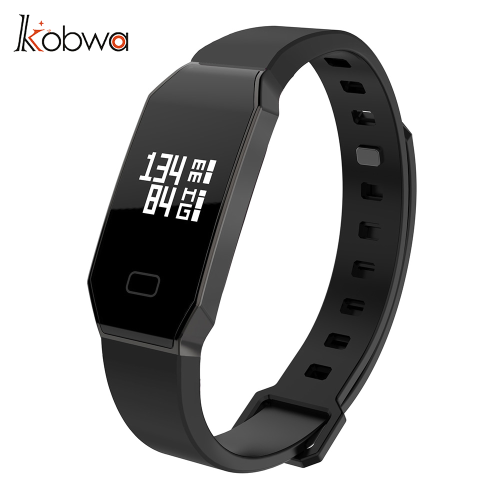 Kobwa Fitness Trackers Activity Tracker Smart Watch Wristband Sports Bracelet Heart Rate Monitor Pedometer for Android