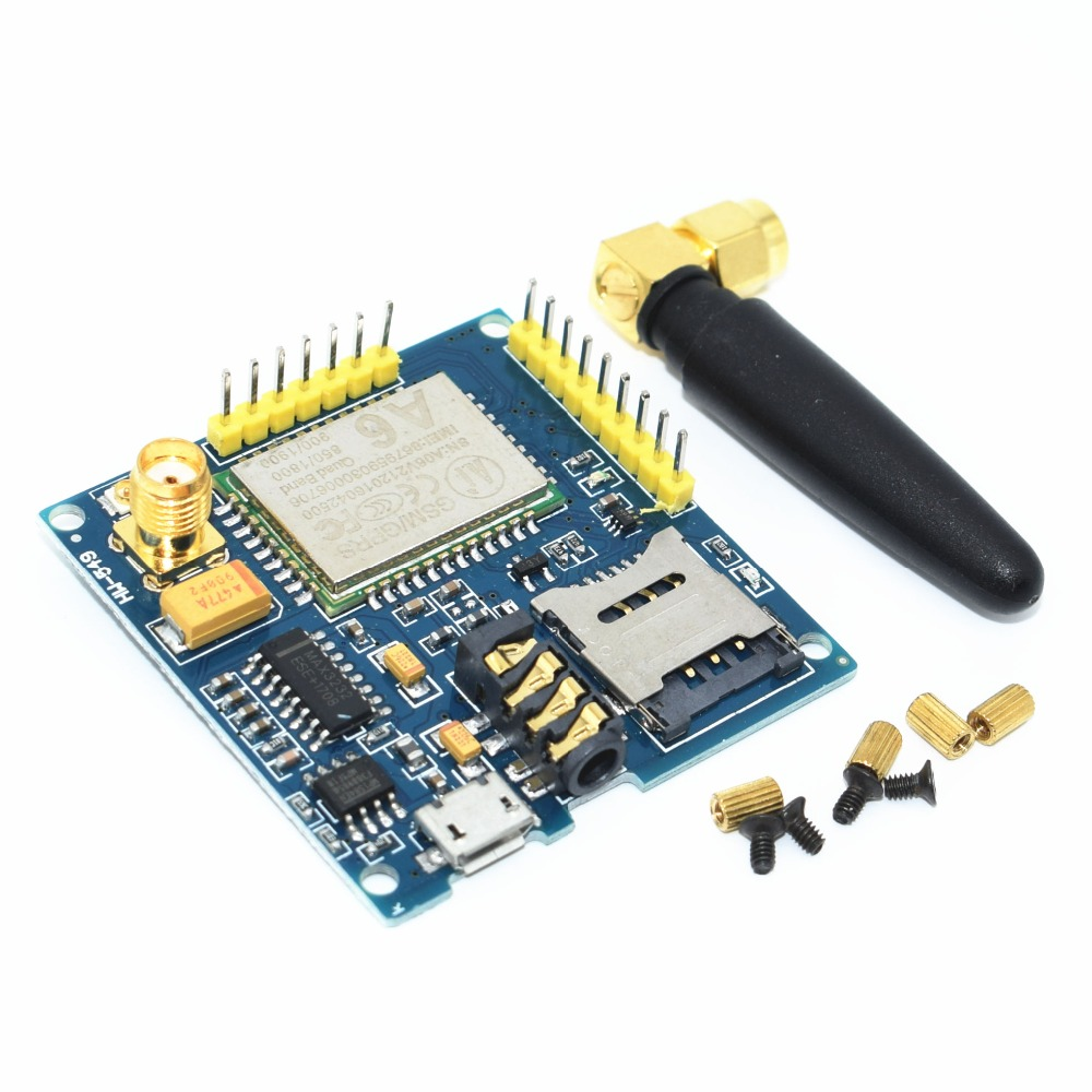 10 A6 GPRS Pro Serial GPRS GSM Module Core DIY Developemnt Board TTL RS232 With Antenna