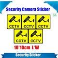 5 Peças À Prova D' Água Câmera de Segurança Etiqueta de Aviso Decal Sinais De Vigilância CCTV, Câmera E Câmera Manequim Falso