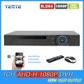 TEATE 4ch AHD 1080 P DVR NVR de 4 canais de vigilância CCTV AHD-H 1080 P HDMI Standalone segurança gravador de vídeo WI-FI TET-G04D10PB02