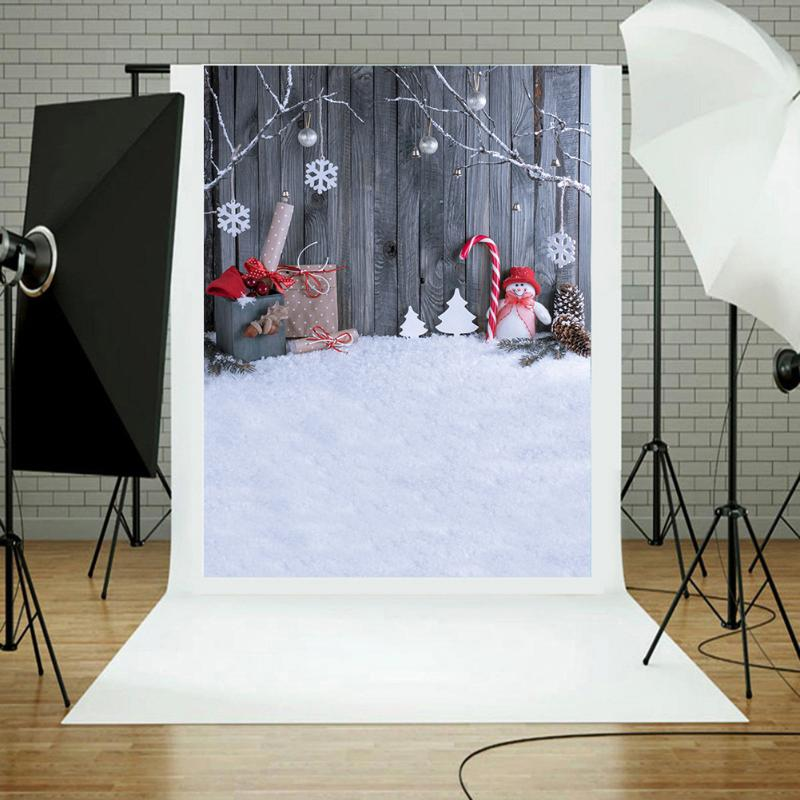 Christmas Snowman Photography Background Photo Props, Studio Backdrops Decoration Photography Prop for Camera Studio kate wood photography microfiber background christmas theme snowman photographic backdrops for children studio photo props
