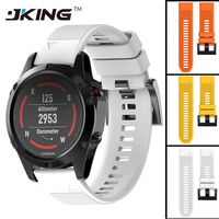 JKING 22mm Width Outdoor Sport Watch Band Easy Fit Silicone Strap Watchband For Garmin Band Silicone