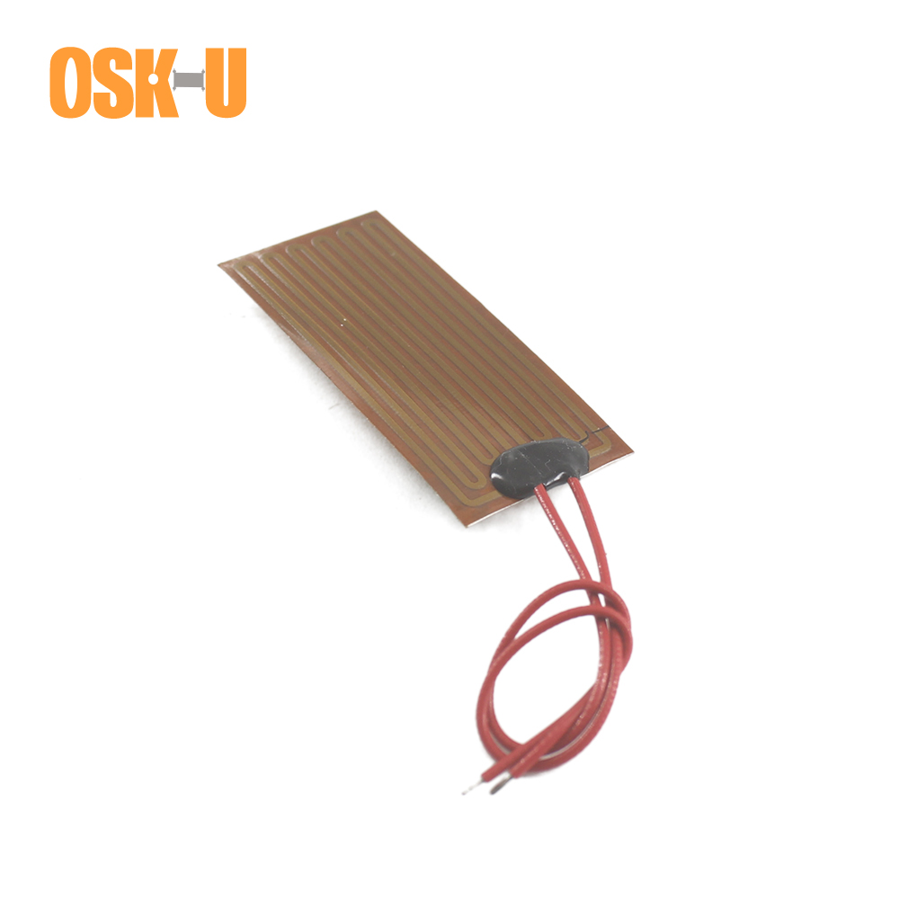 12V Polyimide Film Heater 0.15-0.3mm Thickness Electric Heating Element Freeze-proof Heater Film For Mechanical Equipments