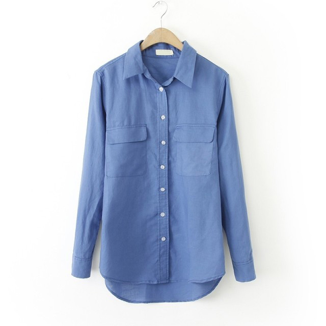 blusas femininas 2015 New Women Cotton linen blouse Casual lady Long Sleeve Plus Size Blouse Shirt xxxl 4xl 5xl 6xl