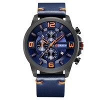 CURREN 8288 Mens Watches Top Brand Luxury Chronograph Quartz Watches Men 24 Hour Date Men Sport