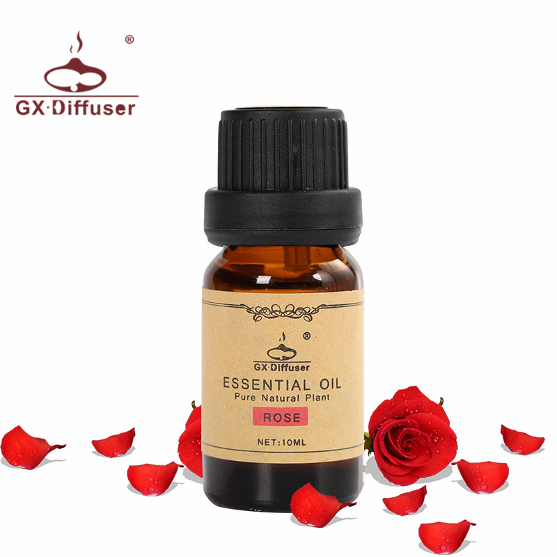 GX.Diffuser 10ML Water-Soluble Essential Oils For Aromatherapy Diffuser Pure Rose & Lemon Oil Skin Care Natural Aromatherapy Oil meijuya aromatherapy essential oil lavender scent 10ml
