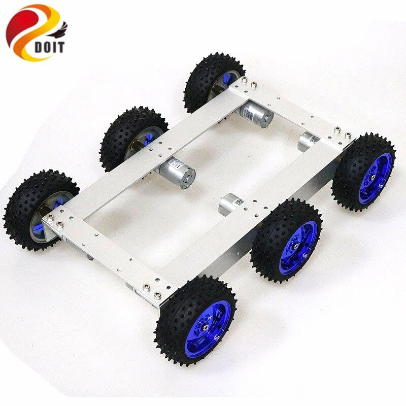 Fernbedienung Spielzeug Willensstark C6 6wd Smart Auto Chassis Kit 6 Motor Drive Mobile Roboter Für Projekt Entwicklung Elektronische Wettbewerb Graduation Design Sammeln & Seltenes