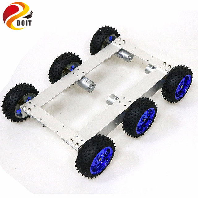 C6 6wd Smart Car Chassis Kit 6 Motor Drive Mobile Robot for Project Development Electronic Competition Graduation Design