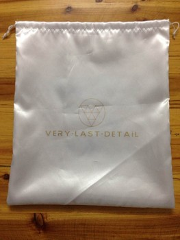 high quality 50pcs drawstring bag white satin bag size 15*25cm satin jewelry bag custom gift pouch  free shipping by ePacket