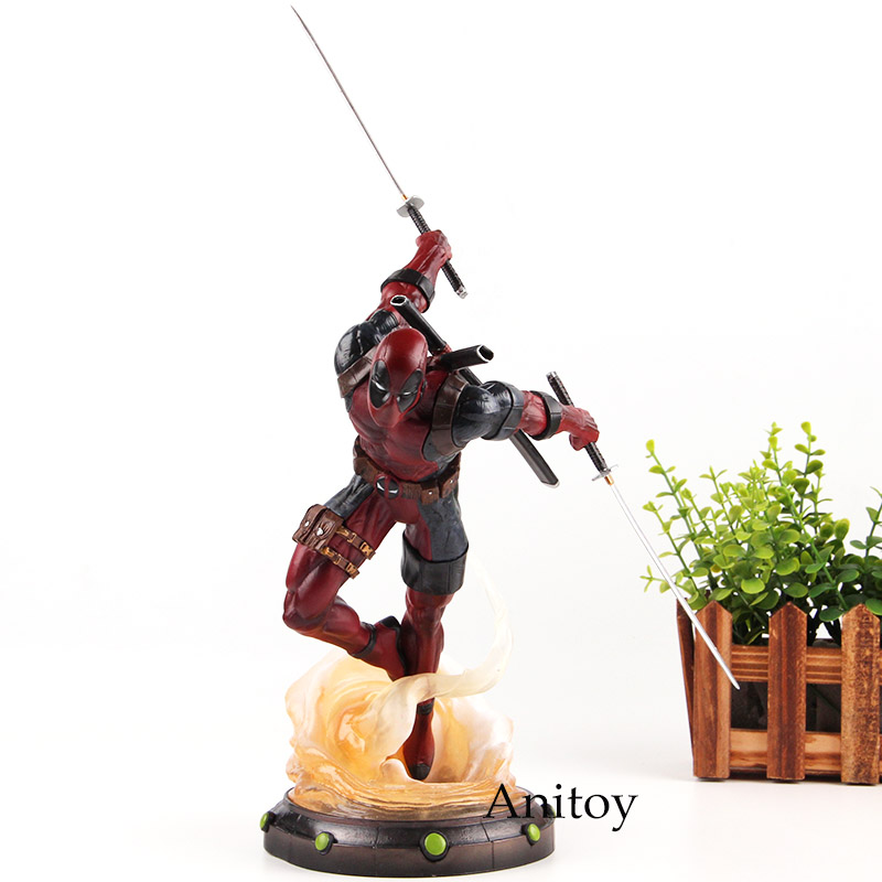 Action Figure Marvel Deadpool Figure PVC Anime Deadpool Comics Figurines Collection Model Toys for Boy Gifts 24cm image