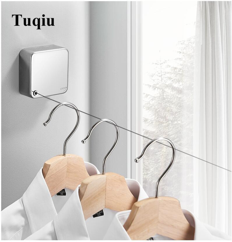 Portable Retractable Clothesline Indoor Outdoor Laundry Hanger Drying Rack Rope