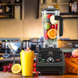 Image 5 - BPA Free Commercial Grade Timer Blender Mixer Heavy Duty Automatic Fruit Juicer Food Processor Ice Crusher Smoothies 2200W
