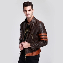 New X men Wolverines James Howlett Logan Cosplay PU Leather Jacket Costume Faux Coat for Men M-4XL