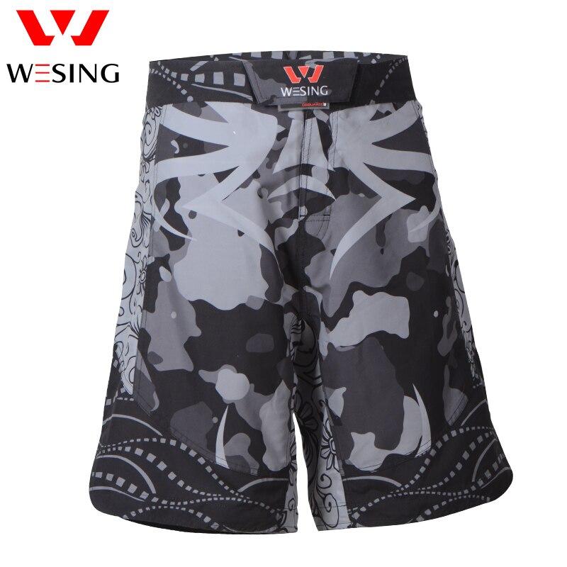 Wesing MMA De Boxe Shorts pour Hommes Athlètes Araignée Gym Shorts de Sport avec Grande Taille pour Kickboxing Muay Thai Combat