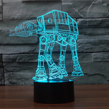 USB Novelty Night Light Imperial Walker AT-AT Star Wars 3D Bulbing Table Lamp led stick touch Engraving USB led lamp