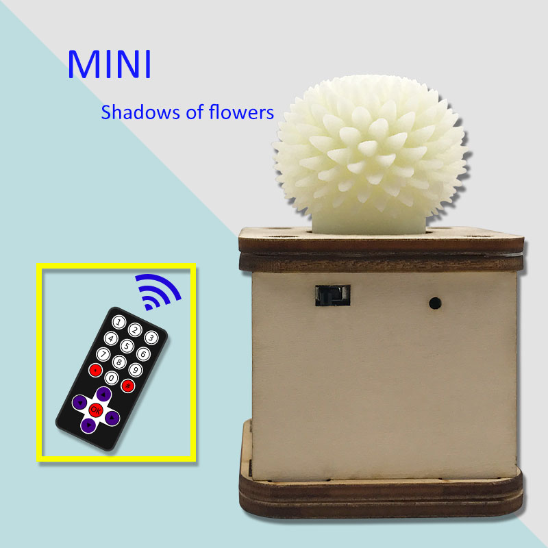 Image 2 - Mindyn Handmade Flower shadow Infrared remote control LED flashing flower rotate speed adjustment Decoration GiftsCraft Toys   -