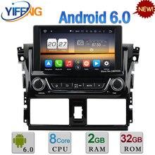Octa Core WIFI 4G Android 6.0 2GB RAM 32GB ROM DAB+ FM AUX USB Car DVD Multimedia Player Radio Video For Toyota Yaris 2014 2015