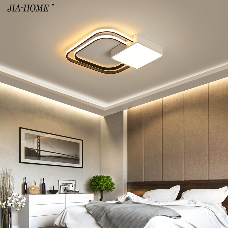 Modern Flush Mount Ceiling Light white black Led Lighting with Remote Control Ceiling Lamp for Living Room Bedroom Kid Room dero lustre flush mount led modern crystal ceiling lamp lights with 1 light for living room lighting free shipping