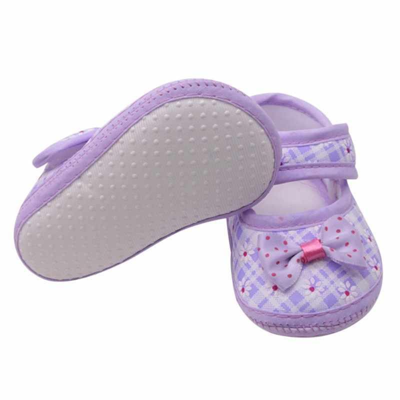 ผ้าฝ้ายเด็กรองเท้าเด็กทารกแรก Walkers เด็กวัยหัดเดินเด็ก Bowknot Soft Anti-Slip รองเท้า Crib 0-18 เดือน