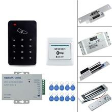 RFID замок для контроля доступа системы комплект 125 кГц устройство для считывания em-карт с 180 кг магнитный замок/Электрический ударный Болт замок для дома/офиса
