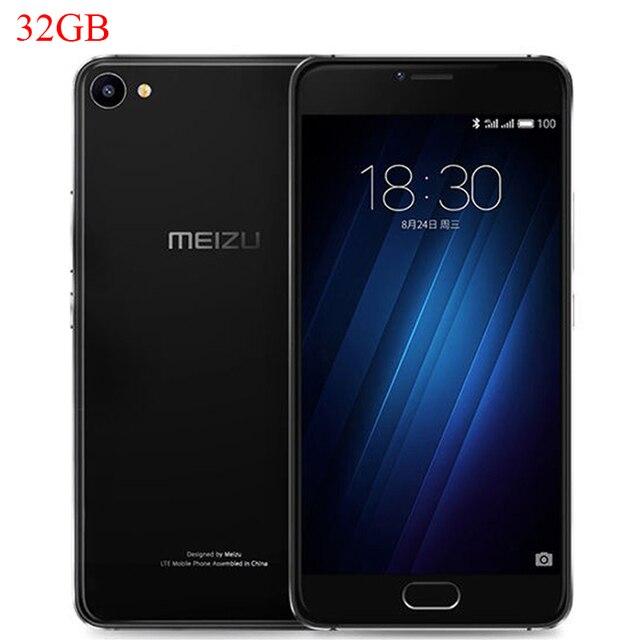 Оригинальный Meizu U20 Глобальная Прошивка, 5.5 дюймов, 2.5D FHD 1080P MTK Helio P10, Восьмиядерный, 3ГБ ОЗУ, 32ГБ ПЗУ, Сотовый Телефон, Отпечаток Пальца