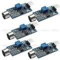 Alta Sensibilidade Microfone Sensor de Som Módulo De Detecção Para Arduino AVR PIC, 5 pçs/lote