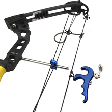Buy Archery 4Finger Compound Bow Release Aids Grip  Aluminum Alloy Thumb Caliper Fit Left and Right Hand Scrub Feel Release Hunting
